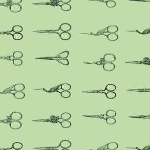 Green Scissors on Green