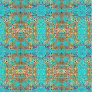 Golden Teal Kaleidoscope