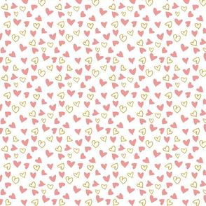Pink Valentine's Hearts