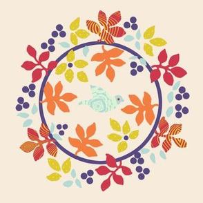 Baltimore Quilt Panel -Wreath