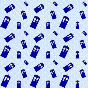 Police Box White Swirls