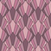 Art deco diamond fans, puce-pinks