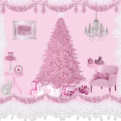 Pink Shabby Room Christmas