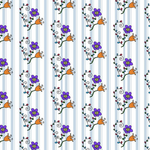 Retro Flora Pattern