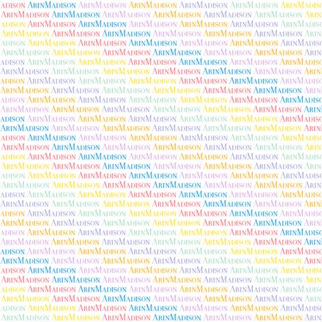 ArinMadison Sp'14 Rainbow (White) (Custom)