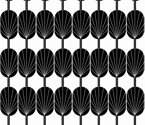 Fanpod in black and white fabric by ninaribena on Spoonflower - custom fabric