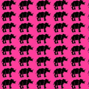 New Black Rhino on Hot Pink