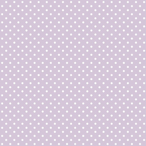 Lilac White Swiss Dot