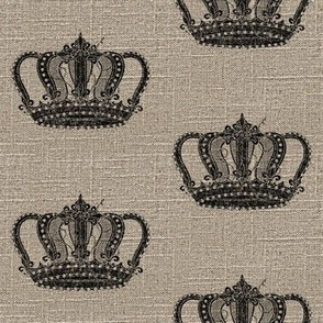Vintage Crown on Linen