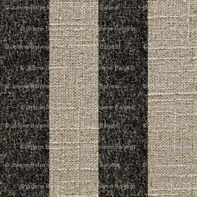Black Stripe on Linen