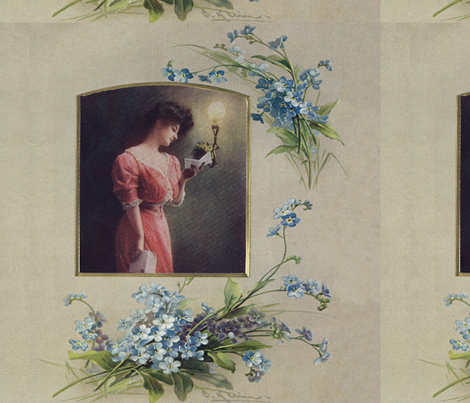 Lovely lady with forgetmenots