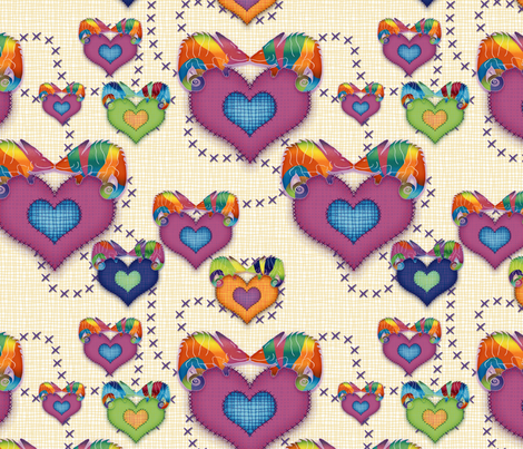 the love chameleon fabric by treehousedesignstudio on Spoonflower - custom fabric