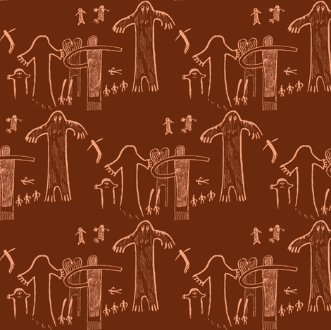 ancient evidence dark fabric by keweenawchris on Spoonflower - custom fabric
