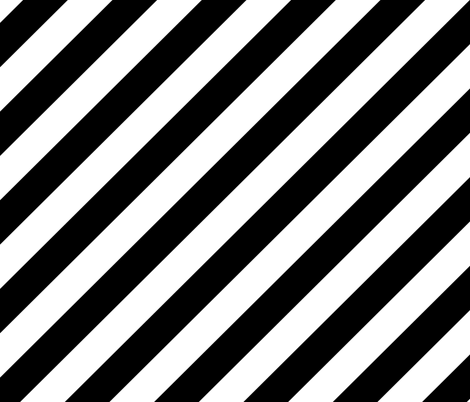 Diagonal Stripes - Black and White