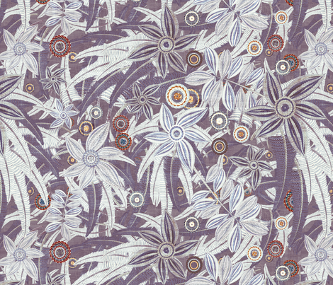 floral earthy fabric by kociara on Spoonflower - custom fabric
