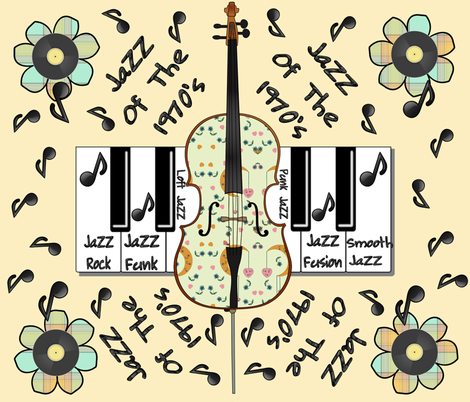 It's That 70's Jazz fabric by judyjo on Spoonflower - custom fabric