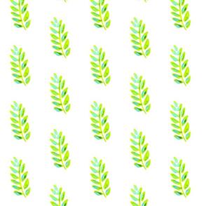 Lime leaves - small - for Duvet