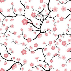 Cherry Blossoms - Repeating