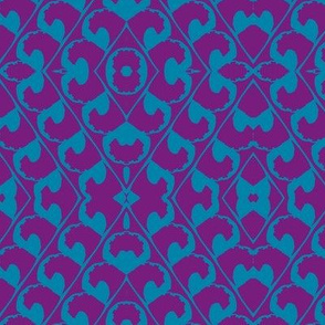 Plum and Blue Latticework