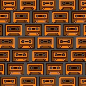 Vintage Orange Brown Compact Cassette