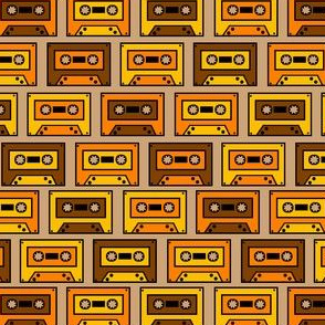 Vintage yellow Compact Cassette