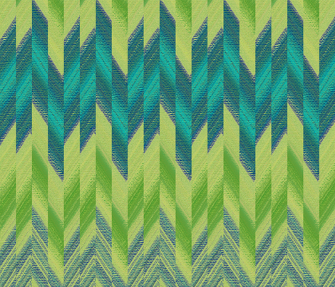 broken chevron green fabric by weavingmajor on Spoonflower - custom fabric