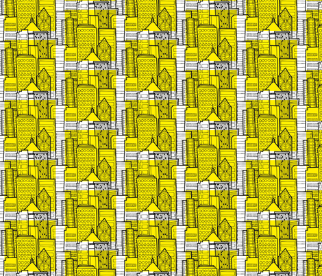 hong kong buildings fabric by spaldilocks on Spoonflower - custom fabric