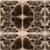 stained glass rose tile vintage effect moosecat