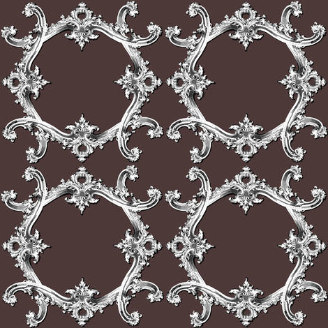 Rococo Swag ~ Voltaire fabric by peacoquettedesigns on Spoonflower - custom fabric