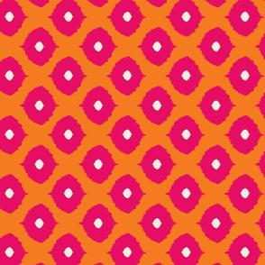 ikat - moroccan eyes orange & fushia