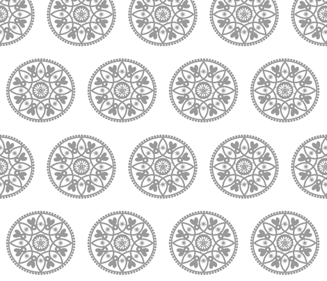 grey paper doily fabric by stickelberry on Spoonflower - custom fabric