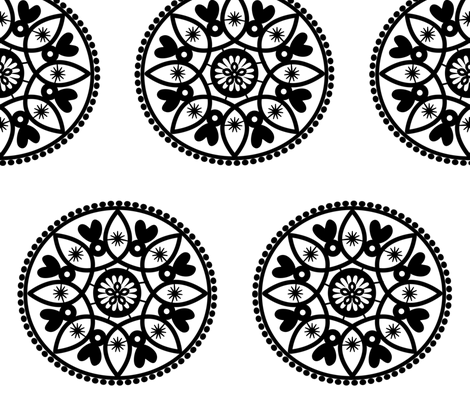 black paper doily fabric by stickelberry on Spoonflower - custom fabric