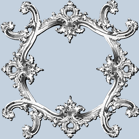 Rococo Swag ~ Versailles Fog fabric by peacoquettedesigns on Spoonflower - custom fabric