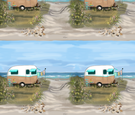 Camping at the Shore fabric by salzanos on Spoonflower - custom fabric