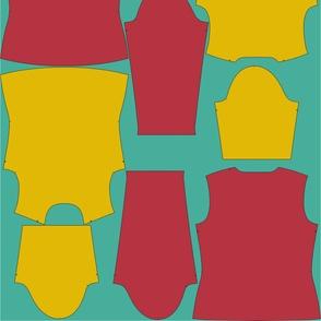 Two T-Shirts custom pattern fill