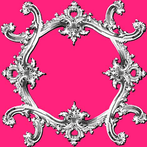 Rococo Swag ~ Courtesan fabric by peacoquettedesigns on Spoonflower - custom fabric