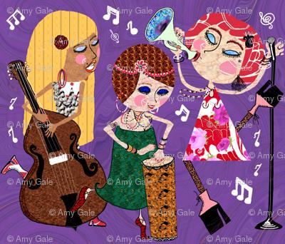 The Jazzy Jezebels, purple