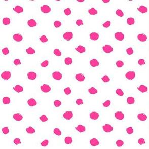 hot, hot, pink - painted polkadots