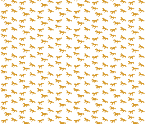 Unicorn Stampede Gold fabric by thistleandfox on Spoonflower - custom fabric