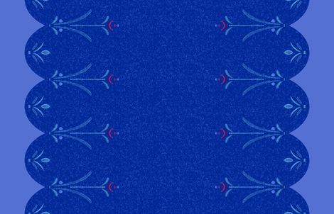 Anna Blue Double Border fabric by aimee on Spoonflower - custom fabric