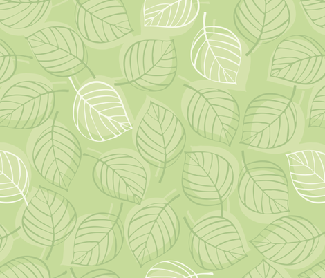 Falling Leaves fabric by juliaallum on Spoonflower - custom fabric