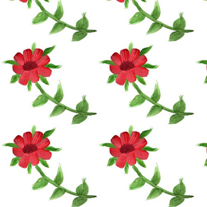Wishful Red Floral