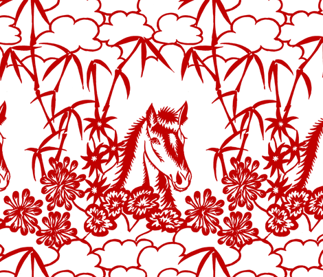 happy horse fabric by zandloopster on Spoonflower - custom fabric