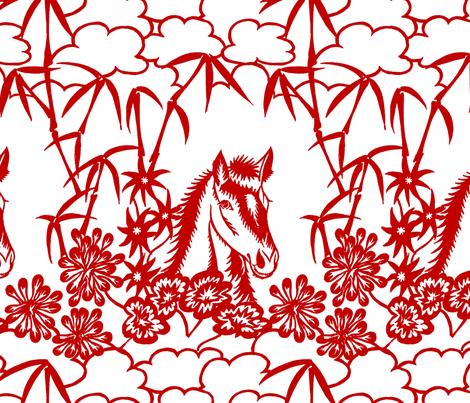 happy horse fabric by zandloopster on Spoonflower - custom fabric