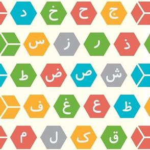 Arabic Alphabet Cubes