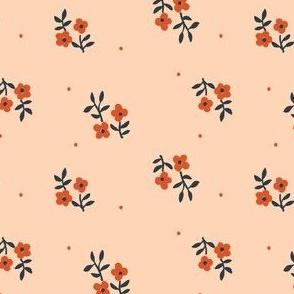Tiny Blossoms   Peach