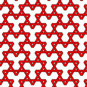 Red Triangles on White