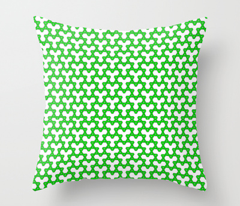 Green Triangles on White