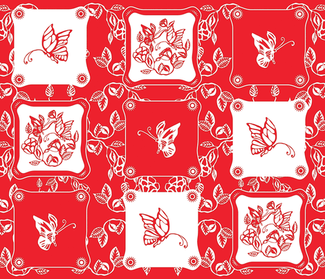 Chinoiserie_Papercut fabric by yazooky on Spoonflower - custom fabric