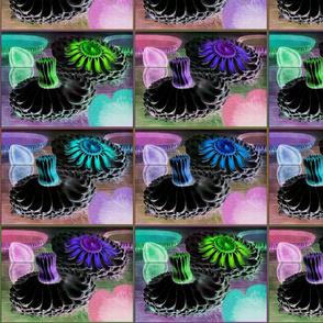 Water Lilies Quilt Invert